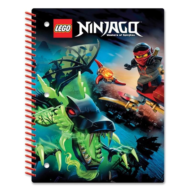 LEGO Тетрадь на спирали Ninjago 51627 Линейка 70 листов