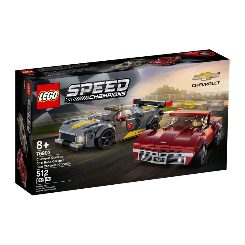 LEGO 76903 Chevrolet Corvette C8.R Race Car and 1968 Chevrolet Corvette