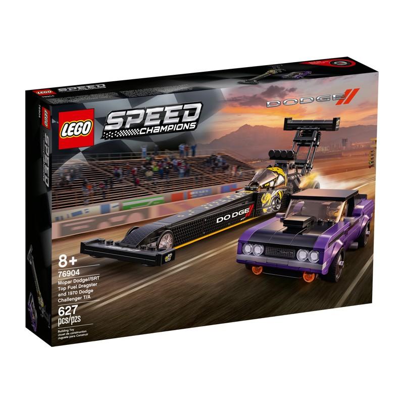 LEGO 76904 Mopar Dodge//SRT Top Fuel Dragster and 1970 Dodge Challenger T/A